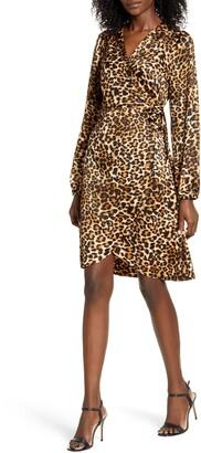 Vero Moda Gamma Long Sleeve Wrap Dress