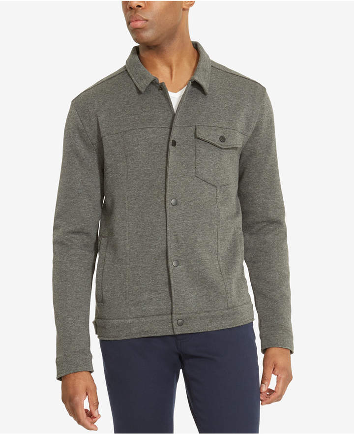 Kenneth Cole Reaction Men's Snap-Front Knit Shirt-Jacket