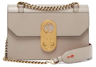 Christian Louboutin Elisa Small Leather Cross-body Bag - Grey
