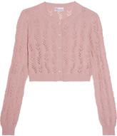 RED Valentino Cropped crocheted cotton cardigan