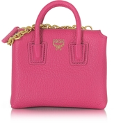 MCM Pink Leather Milla Mini Bag Card Case