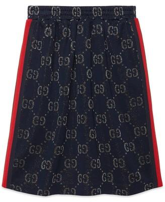 Gucci Children's GG lame skirt