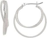 Sonoma Goods For Life SONOMA Goods for Life Textured Nickel Free Double Hoop Earrings