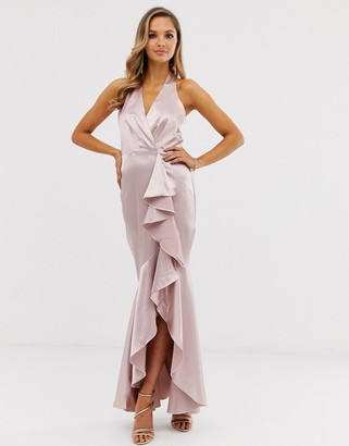 City Goddess satin maxi dress