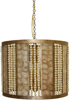 One Kings Lane Bead and Capiz Drum Pendant, Gold