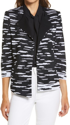 Ming Wang Dash Asymmetrical Sweater Jacket