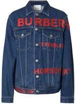 Burberry Horseferry Print Japanese Denim Jacket