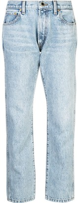 KHAITE Cropped Boyfriend Jeans