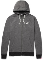Nike Legacy Mélange Loopback Cotton-jersey Zip-up Hoodie - Charcoal