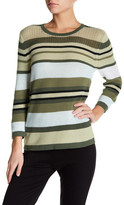 Sag Harbor Long Sleeve Striped Knit Sweater