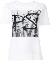 Paul Smith digital logo print T-shirt - women - Cotton - XL