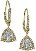 Giani Bernini Cubic Zirconia Drop Earrings in Gold-Plated Sterling Silver, Created for Macy's