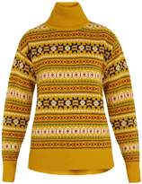 Joseph Roll-neck Fair Isle wool sweater