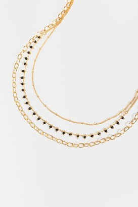 francesca's Genoa Layered Chain Link Necklace - White