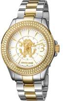 Roberto Cavalli Womens Two-tone Silver/gold Watch With Silver Dial.