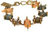 "Erickson Beamon Rocks Gold Multi-Stone Bracelet, 8"""