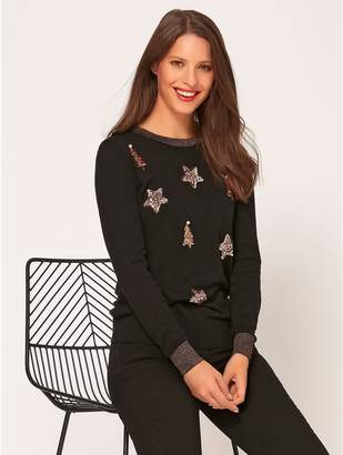 M&Co Sequin christmas jumper