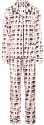 Prada Printed silk pajama set