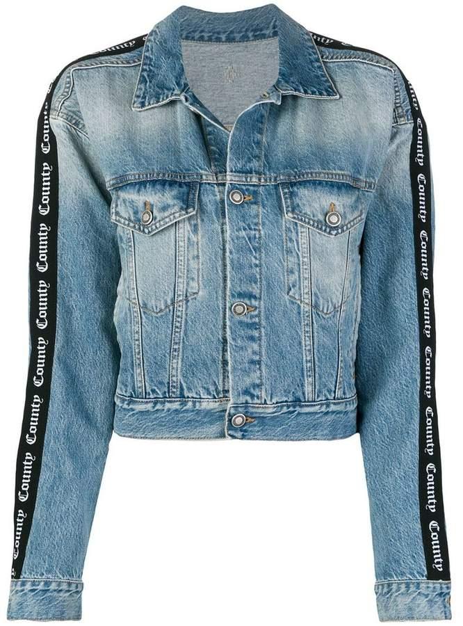 Marcelo Burlon County of Milan short denim jacket