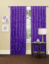 "Lush Decor Gigi Single Window Curtain Panel, 84"" x 50"", Purple"