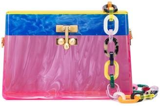 Edie Parker Miss Mini rainbow clutch bag