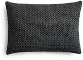 "Vera Wang Corrugated Texture Crocheted Netting Decorative Pillow, 15"" x 22"""