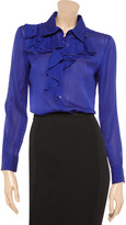 Moschino Cheap & Chic Moschino Cheap and Chic Ruffled silk and cotton-blend blouse