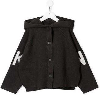 DKNY Oversized Logo Hooded Jacket