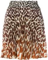 Marco De Vincenzo leopard pleated skirt