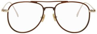 Tom Ford Brown Blue Block Pilot Glasses
