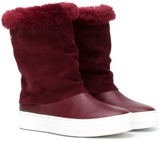 Cesare Paciotti Kids TEEN shearling ankle boots