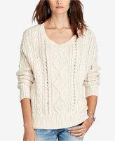 Denim & Supply Ralph Lauren Cable-Knit Crew-Neck Sweater