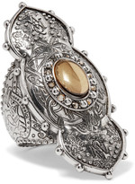 Alexander McQueen Engraved Silver-tone Ring - 13