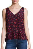 Rebecca Taylor Celia Floral Silk Top