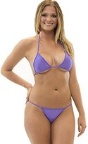 Lena Style Women's Triangle Top Micro Thong Bikini Brazilian String Swimsuit