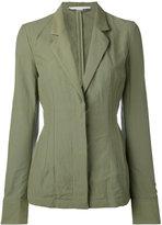 Stella McCartney concealed front blazer - women - Cotton/Linen/Flax/Polyester - 40
