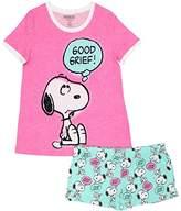 Peanuts Women's 2-Piece Pajama Short Set