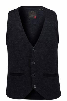 JP 1880 Men's Big & Tall Knitted Vest Navy Melange XX-Large 723412 75-XXL