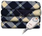 Slumber Rest SlumberRest Sunbeam® SlumberRest Microplush Heated Throw with foot pocket - Blue Plaid