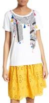 Kate Spade Women's Berber Stripe Scarf Tee