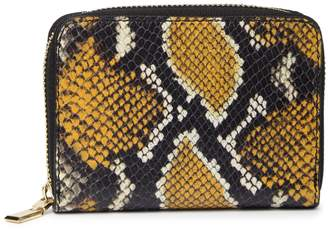 Persaman New York Firmina Snakeskin Embossed Leather Zip Around Wallet