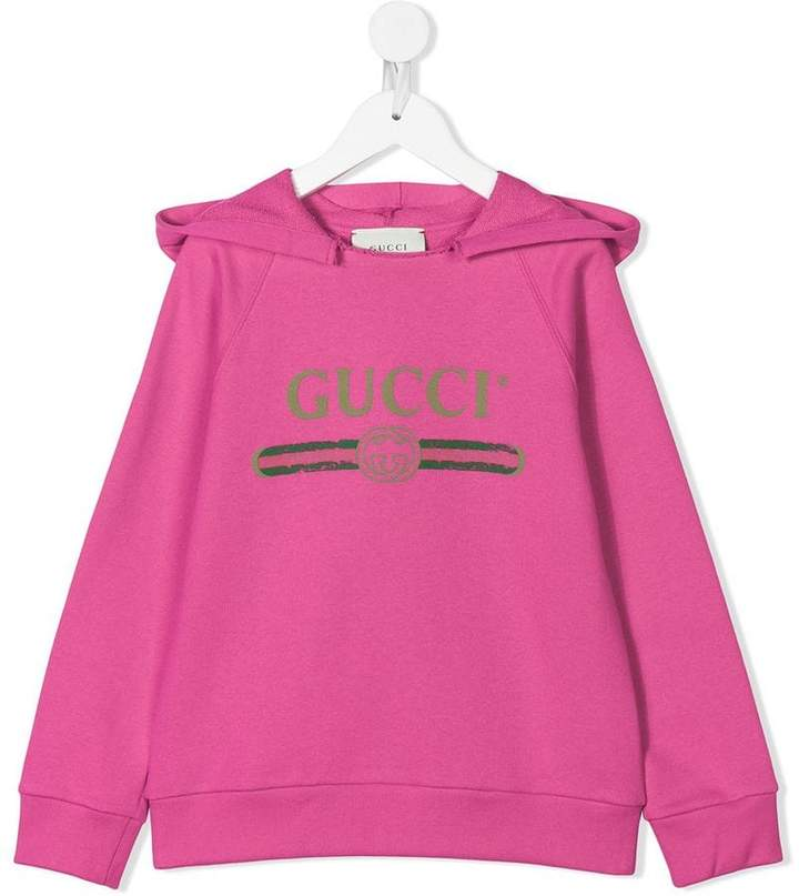 0f0b1176900 Gucci Hooded Cotton Sweatshirt With Print - ShopStyle