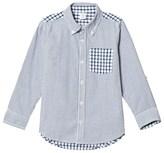 Gap Blue Patchwork Gingham Check Shirt