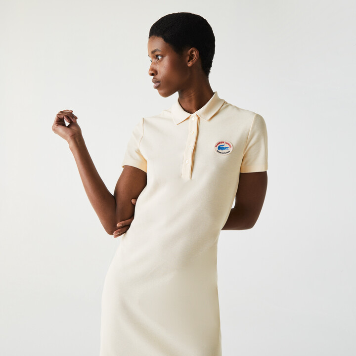 Womens Made In France Organic Textured Cotton Pique Polo Dress