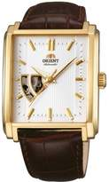 Orient Men's Brown Leather Band Steel Case Automatic Analog Watch FDBAD003W