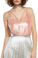 Bardot Strap Detail Iridescent Camisole