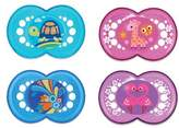 Mam Crystal Age 6+ Months Pacifier in Purple (2-Pack)