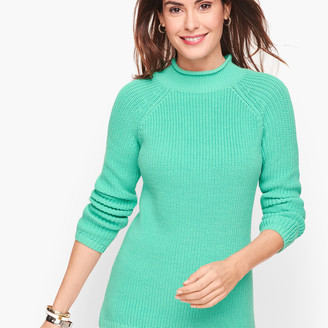 Talbots Cotton Shaker Stitch Roll Neck Sweater