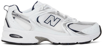 New Balance Silver and White 530 Sneakers