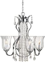 Décor Therapy 4-Light Crystal Chandelier in Chrome